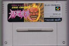 Nintendo Super Famicom JAKI CRUSH JAKI HAKAI Naxat Pinball Japan SFC SNES
