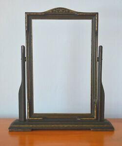 Vintage Classical Wood Picture / Mirror Frame, Tiltable, Aged Patina, Dayton Co.