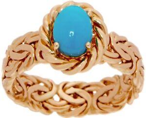 675fa2c240a4e2 Image is loading Sleeping-Beauty-Turquoise-Gemstone-Byzantine-Band-Ring -Real-