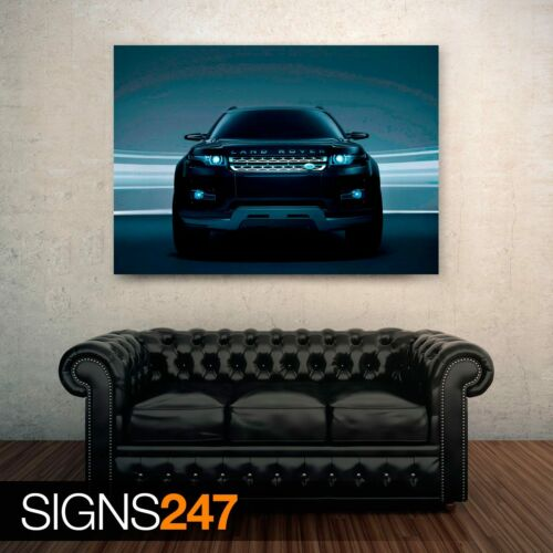 Car Poster Poster Print Art A1 A2 A3 A4 LAND ROVER LRX CONCEPT BLACK 0759