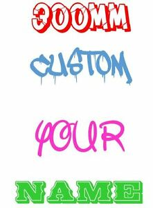 300mm-wide-CUSTOM-Your-Name-Family-Text-Decal-Stickers-Car-Window-4WD-Wall-JDM