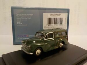 Model-Car-Morris-Traveller-Green-1-76-New