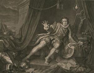 William-Hogarth-1697-1764-1746-Engraving-Mr-Garrick-Richard-the-Third