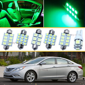 9pcs green map dome lights interior led package kit for - 2006 nissan altima interior lights ...