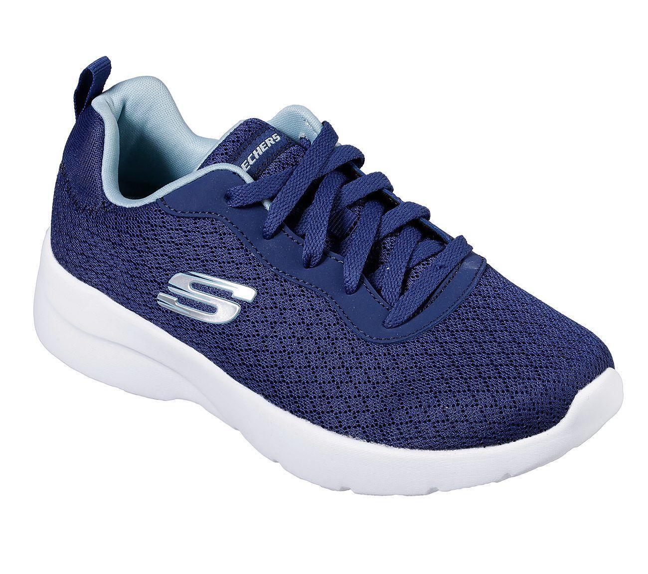 Navy Skechers shoes Mesh Womens Memory Foam 12964 Sport Train Casual Woven Light