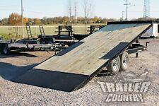 New 22 14k Heavy Duty Deck Over Flatbed Power Tilt Equipment Car Hauler Trailer