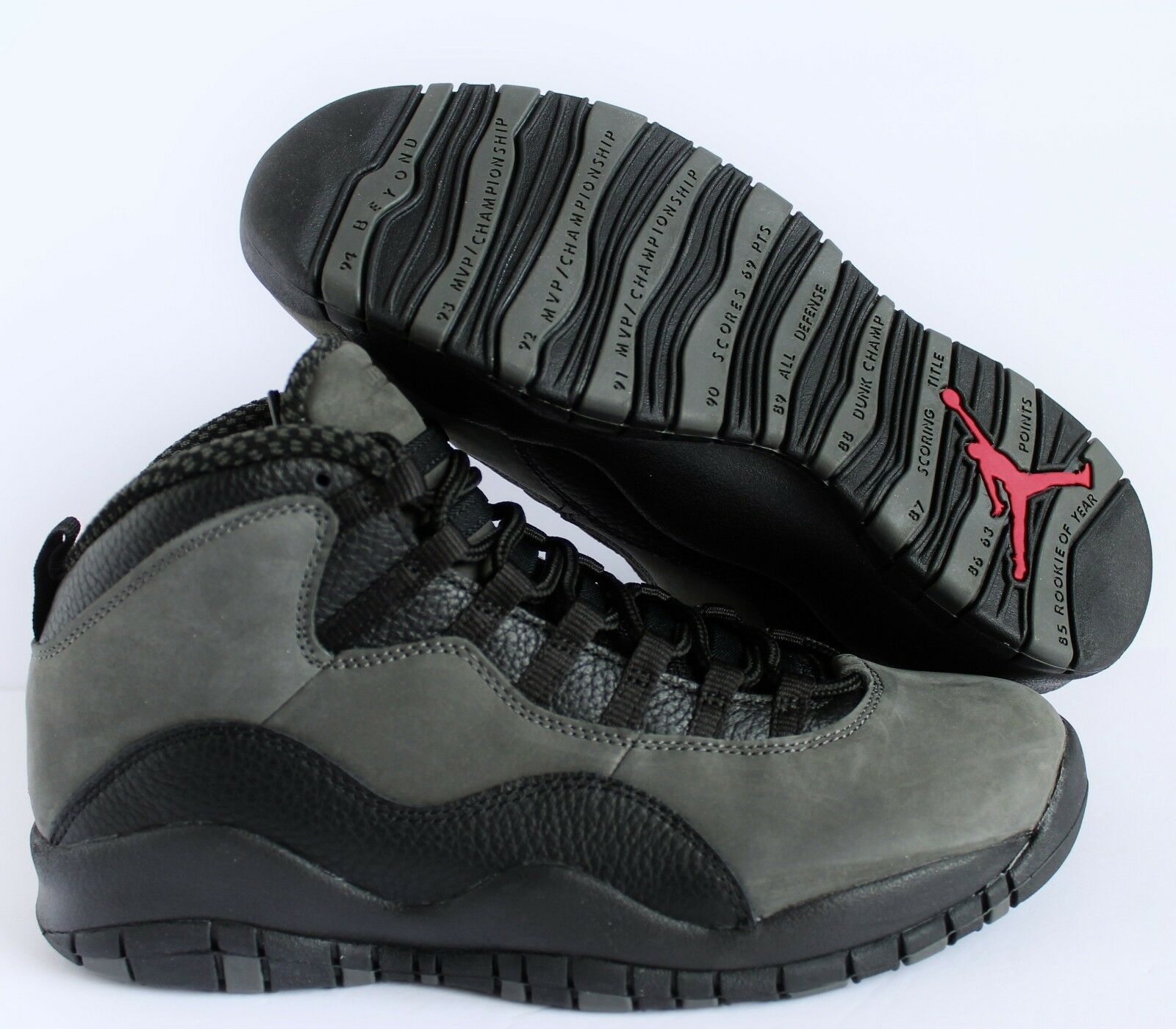NIKE AIR JORDAN 10 RETRO DARK SHADOW-TRUE RED-BLACK Price reduction New shoes for men and women, limited time discount