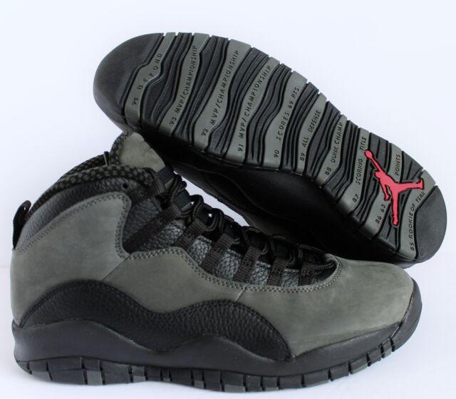 size 40 3ff1a 42699 Mens Air Jordan X 10 Retro Dark Shadow Black True Red 310805-002 US 9.5