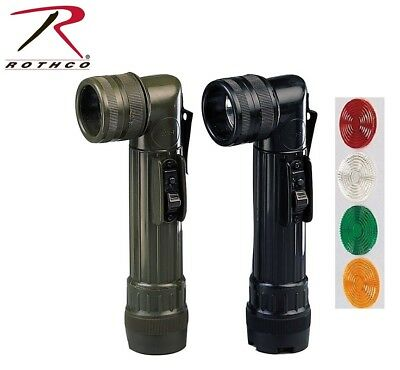 KOMBAT ANGLE TORCH OLIVE GREEN LARGE USES 2X D BATTERIES