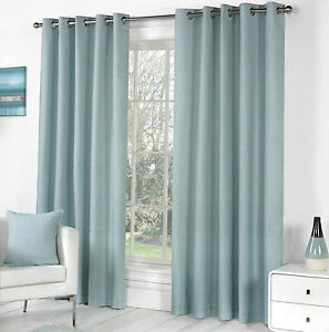 Plain-Duck-Egg-Eyelet-Curtains-Bargain-Price-Fully-Lined-Sorbonne