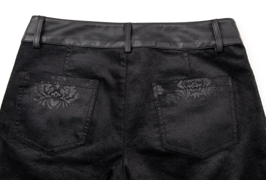 Pantalon Pantalon Pantalon jeans gothique lolita baroque motifs jacquard vieilli fashion PunkRave 2d294f