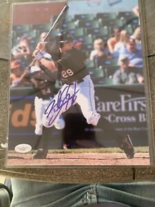 Brandon Snyder 8x10 Signed Photo Delmarva Shorebirds Orioles Braves JSA 50297