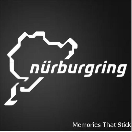 2X NURBURGRING Funny Car Van Window Bumper JDM VW VAG EURO Vinyl Decal Sticker