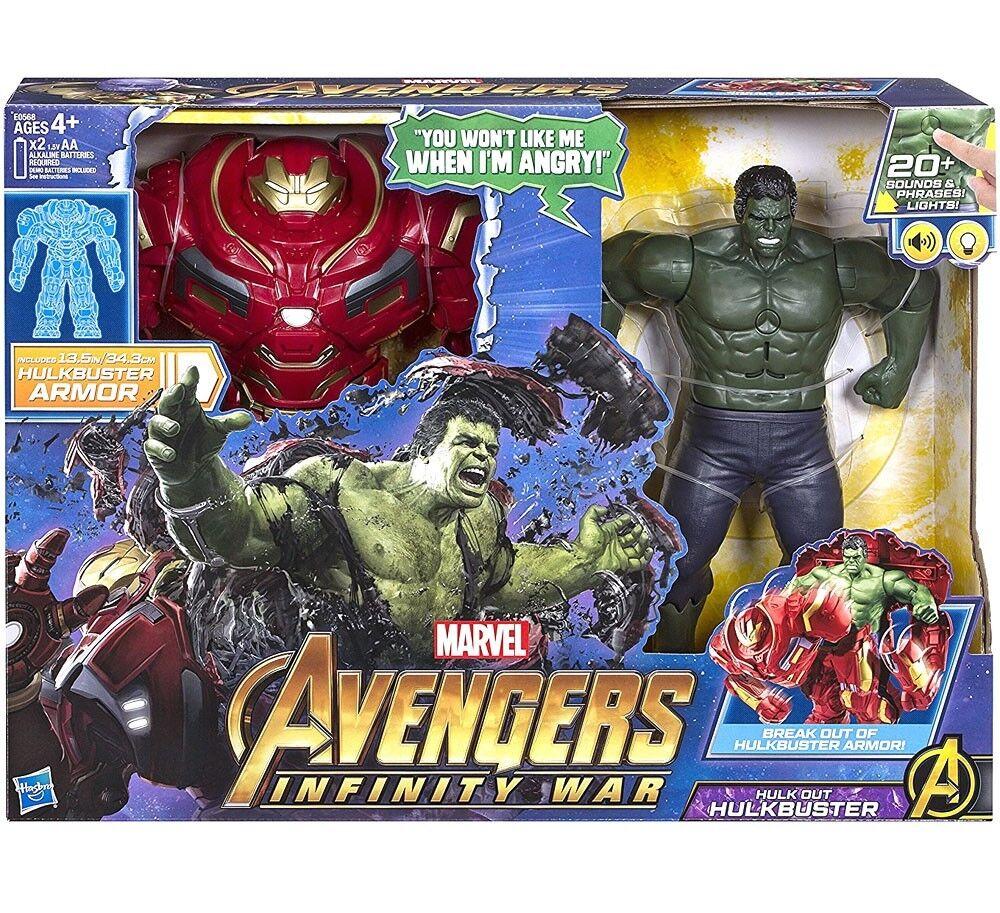 Marvel Avengers  Infinity War Hulk  Out Hulkbuster Deluxe Action Figure Set  détaillant de fitness