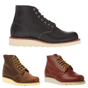 Red-Wing-6-in-environ-15-24-cm-Ronde-en-Cuir-a-Lacets-Decontractees-Bottines-Femme-Bottes