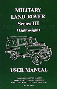 1972 1980 land rover military owners manual user guide book series rh ebay ie land rover series 3 owners manual free download land rover discovery 3 owner manual