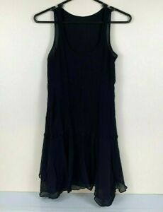 G-Gigli-Black-Party-Dress-Size-44-Made-in-Italy-Crepe-Fabric-Races-Cocktail