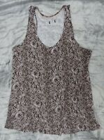 NEW Animal Print Stretch Jersey Cami Top UK Size 14/16 Browns BNWOT