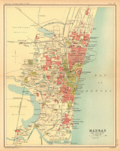 Details about Madras/Chennai town city plan. Key buildings. British on map of india before independence, map and key features of india, flag with key, map of india students, map of india with latitude, map of indian battles in the us, weather with key, map of india with flag, map of india with scale, map of british imperialism india, map of india animation gif, ancient india with key,
