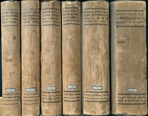 SINOSSI DELLA CULTURA UNIVERSALE E PRATICA - SEI 1907 -  6 VOLUMI