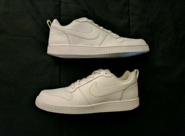 Nike Mens Size 11 Court Borough Low White Athletic Basketball Sneakers