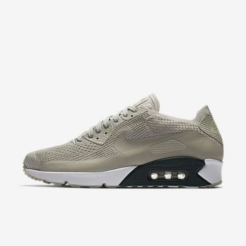 Nike Air Max 90 Ultra 2.0 Flyknit Men Running Train Shoes Pale Grey 875943 006