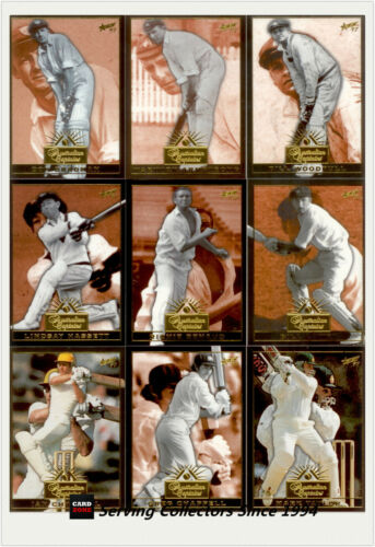 1997/98 Select Cricket Trading Cards Australian Captains Full Set (10)-Rare