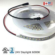 Super Bright LED Strip Light 2835 UL Listed 16Ft 24VDC Daylight 6000K 576 LEDs
