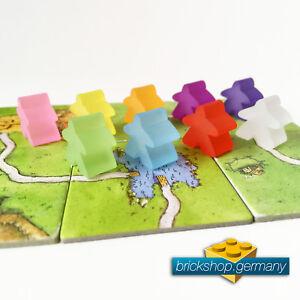 Carcassonne MATTE Acryl Männchen - Spielfiguren - FARBWAHL - 1, 2, 5, 10, 20 Stk