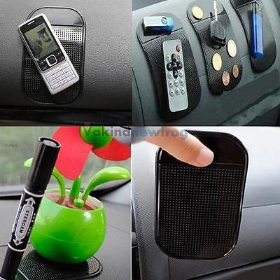 V1NF Car Anti/Non-Slip Glass Dash Mat Pad For iPhone 4S 5S 6 iPod New Black