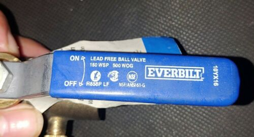 "#107-554EB NEW!!! Everbilt 3//4/"" Brass Ball Valve with Drain Solder x Solder"