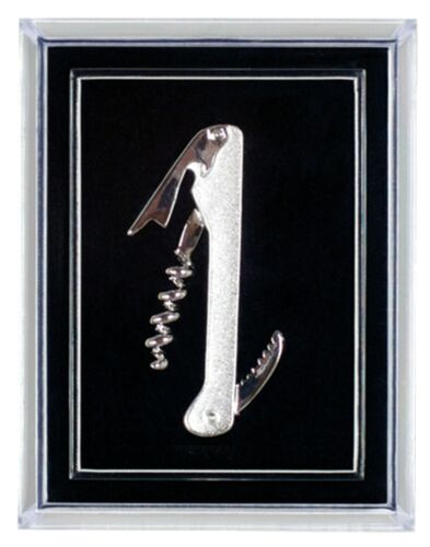 Silver Plated Waiter/'s Corkscrew Pin in Gift Box