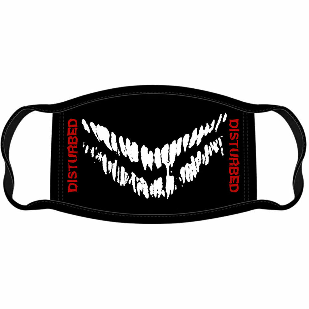 Disturbed - Mouth Face Mask - Black
