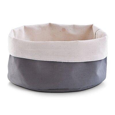 Zeller Cestino Del Pane Cotone Antracite/creme 20 X 12 Cm Nuovo-e 20 X 12 Cm New It-it Numerosi In Varietà