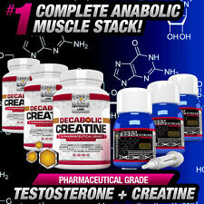 3 MONTH CYCLE TESTO ANABOLIC +DECABOLIC CREATINE - STRONGEST NO STEROIDS ALT ++