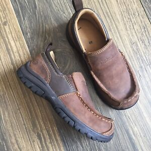 toddler boys brown leather timberland casual dress slip on