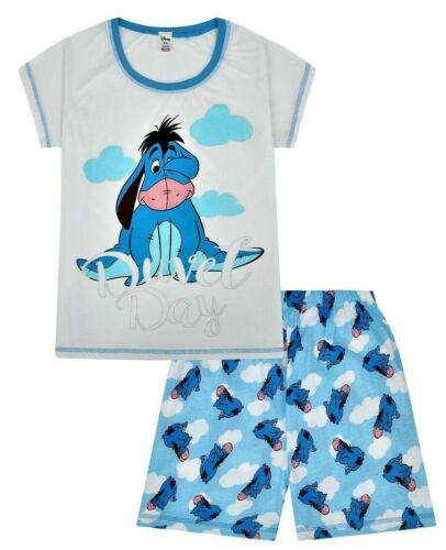 Womens Disney Eeyore Duvet Day Short Ladies Pyjamas Pjs