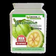 60 Garcinia Cambogia pura 1000mg Max Doble Fuerza Pérdida de Peso Dieta Píldoras