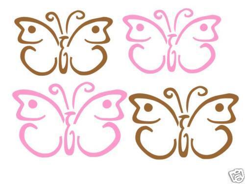 24 Butterfly Girls Bedroom Nursery Wall Vinyl Decals