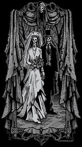 MORBID-WEDDING-Babydoll-T-Shirt-grim-reaper-Victorian-doom-gothic-horror-Poe