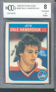 1982-83-o-pee-chee-380-DALE-HAWERCHUK-winnipeg-jets-rookie-card-BGS-BCCG-8