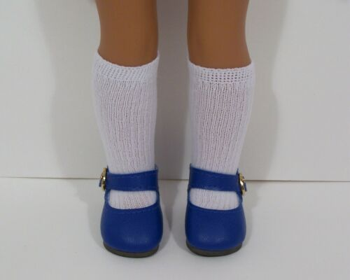 DK BLUE Snazzy Doll Shoes For 14 American Girl Wellie Wisher Wishers (Debs)