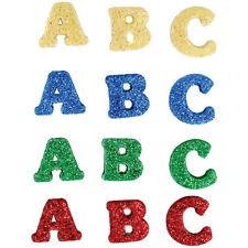 "Dress it Up ""Alphabet Soup"" Buttons Glitter ABC"