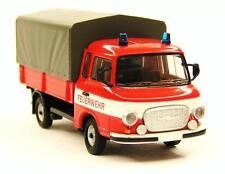 H0 BREKINA Barkas B 1000 PP Pritsche Plane Feuerwehr Blaulicht DDR # 30309