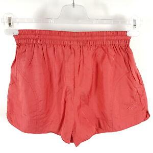 Vintage-Reebok-Glanz-Shorts-Herren-M-Rot-Sprinter-Bermudas-Kurze-Sporthose