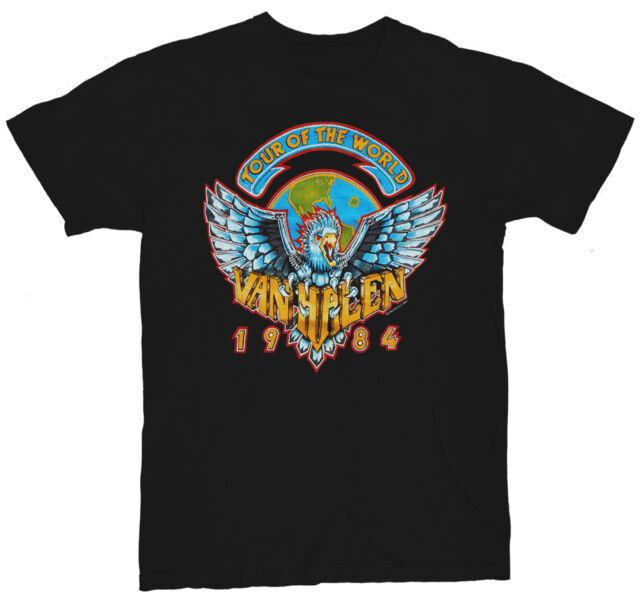 Van Halen 1984 World Tour Vintage Rock Concert T-Shirt Heavy Metal ~ NEW ~ S-3XL