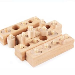 Wooden-toys-Montessori-Educational-Cylinder-Socket-Blocks-Toy-Baby-Development