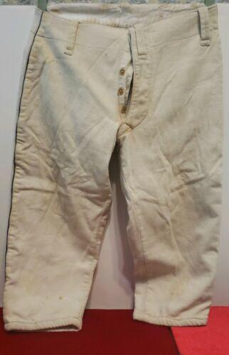 Vintage 30's Wool Baseball Uniform Pants-Button Fl