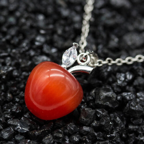 Women Fashion Opal Red Apple Shape Pendant for Necklace Earring Decor Convenient