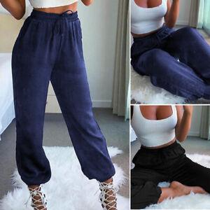 Belle-Femme-Pantalons-Decontracte-lache-Casual-Loisir-Taille-elastique-Plus